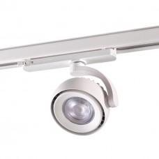 Трехфазный трековый светодиодный светильник Novotech 358167 Curl белый LED 20 Вт 4000K