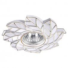 Встраиваемый светильник Novotech 370487 Pattern белый/золото GU10 50 Вт