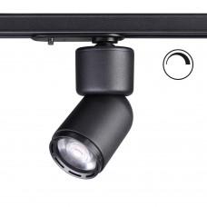 Однофазный трековый светильник диммируемый с регулируемым углом рассеивания Novotech 358292 Fino черный LED 12 Вт 3000K
