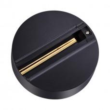 Трёхфазная чаша крепления, предназначена для стационарной фиксации прожекторов без использования шин Novotech 135073 черный