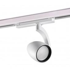 Трехфазный трековый светодиодный светильник Novotech 358179 Zeus белый/черный LED 25 Вт 4000K