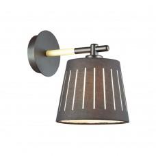 Бра Odeon Light 4110/1W Nicola черный/дерево E27 1*40 Вт