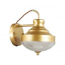 Бра c выключателем Odeon Light 4658/1W Krona золотой/матовый E27 40 Вт