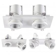 Встраиваемый светильник Novotech 357874 белый IP20 LED 3000К 2*25W 220-240V PROMETA