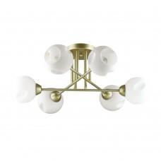 Люстра потолочная Lumion 4519/6C матовое золото, белый E27 6*40W 220V PAIGE