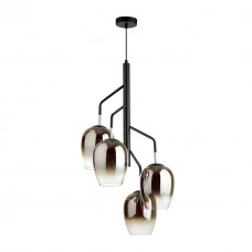 Люстра Odeon Light 4759/4 дымчатый/черный E27 4*60W PALTA