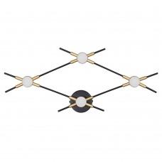 3906/13WL L-VISION ODL21 045 черн/золот/металл Настен. cветильник IP20 LED 13W 1040Лм 4000К COSTELLA
