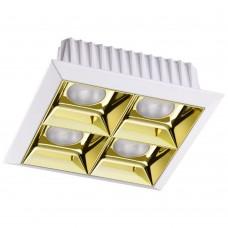 357851 SPOT NT18 белый/золото Встраиваемый светильник IP33 LED 3000К 28W 110-265V ANTEY