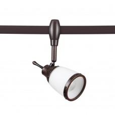 3806/1 MODERN ODL19 257 коричневый/стекло Плафон для трека E14 1*60W 72х72х216,3 LOFIA