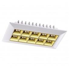 357836 SPOT NT18 белый/золото Встраиваемый светильник IP33 LED 3000К 25W 110-265V ANTEY