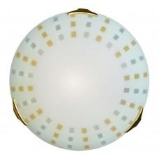263 SN 110 Светильник стекло E27 2*100Вт D400 QUADRO AMBRA