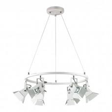 Подвесная люстра лофт Odeon Light 3631/6 Techno Pro белый