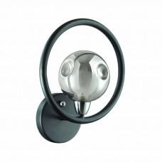 Бра лофт Odeon Light 3982/1W Magno матовый черный/дымчатое стекло