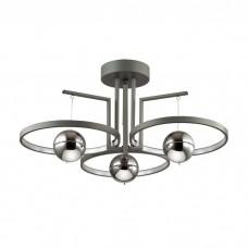 Потолочная светодиодная люстра Odeon Light 4031/40CL Lond черный/хром 40w 3000K