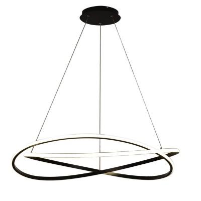 Подвесная люстра светодиодная Omnilux OML-02203-88 Colleri Черный LED 88 Вт с пультом