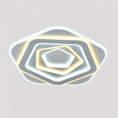 Потолочный светильник светодиодный Omnilux OML-08807-190 Galatina Белый LED 3000K-6000K 190 Вт с пультом