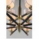 Подвесная люстра Omnilux OML-57303-12 Albinia черный+бронза E14 40 Вт
