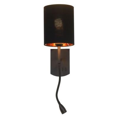 Бра с выключателем Omnilux OML-62711-02 Ocricchio Хром Е14+LED 40 Вт