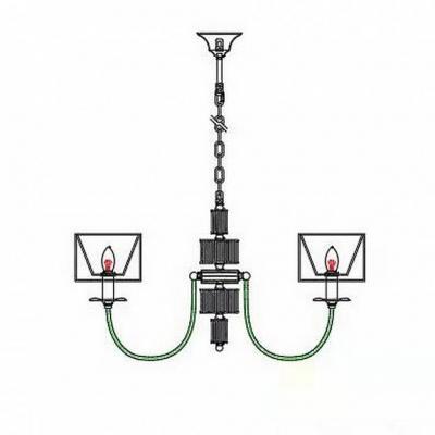 Подвесная люстра Omnilux OML-85903-06 Laterina Хром E14 40 Вт