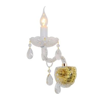 Бра Omnilux OML-89001-01 Ladispoli Золото+прозрачный Е14 60 Вт