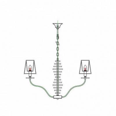 Подвесная люстра Omnilux OML-89503-08 Ameglia Хром E14 40 Вт