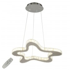 Подвесная люстра светодиодная Omnilux OML-00303-144 Oneto Хром LED 144 Вт 3000-4200К с пультом