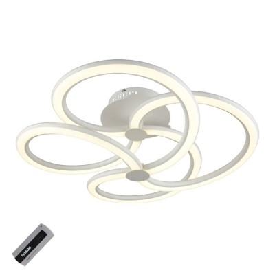 Потолочная люстра светодиодная Omnilux OML-02807-88 Rivale Белый LED 88 Вт с пультом