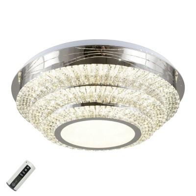 Потолочная люстра светодиодная Omnilux OML-03107-116 Donega Хром LED 116 Вт с пультом