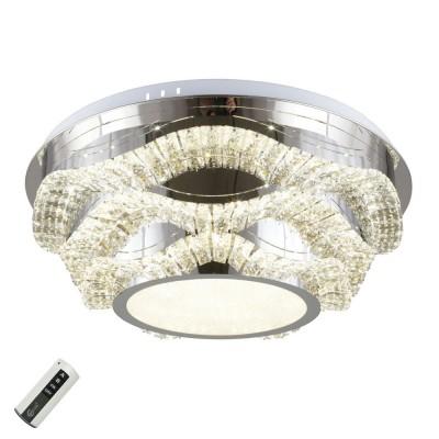 Потолочная люстра светодиодная Omnilux OML-04007-108 Ottone Хром LED 108 Вт с пультом