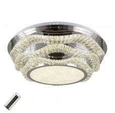 Потолочная люстра светодиодная Omnilux OML-04007-124 Ottone Хром LED 124 Вт с пультом