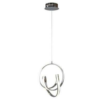 Подвесная люстра светодиодная Omnilux OML-04603-44 Rodengo Хром LED 4000K 44 Вт