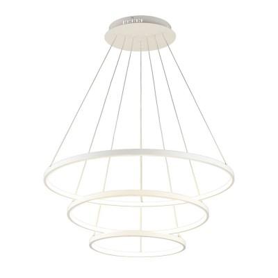 Подвесная люстра светодиодная Omnilux OML-04803-113 Pesaro Белый LED 3000K-6000K 113 Вт