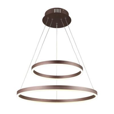 Подвесная люстра светодиодная Omnilux OML-19203-90 Cianciana Коричневый LED 90 Вт с пультом