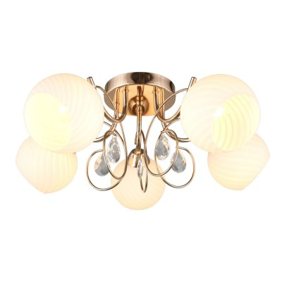 Потолочная люстра Omnilux OML-25207-05 Martello золото E27 60 Вт