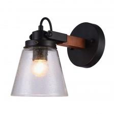 Бра Omnilux OML-51001-01 Borgo Черный+коричневый E27 40 Вт