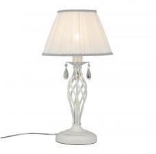 Настольная лампа Omnilux OML-60814-01 Cremona Белое серебро E27 40 Вт