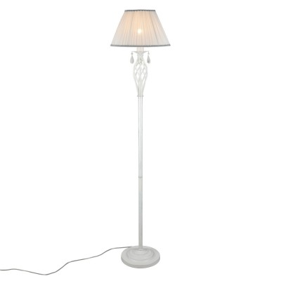 Торшер Omnilux OML-60815-01 Cremona Белое серебро E27 40 Вт