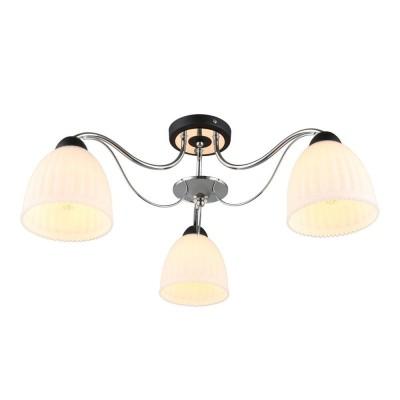Потолочная люстра Omnilux OML-65707-03 Fiesole Черный+хром Е27 40 Вт