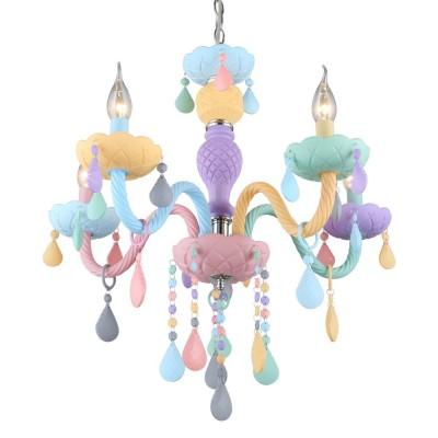 Люстра детская Omnilux OML-65803-05 Cavaglia Цвет радуги E14 40 Вт