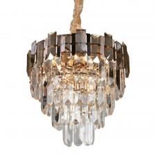 Подвесная люстра с хрусталем Omnilux OML-81303-13 Lariano золото E14 40 Вт