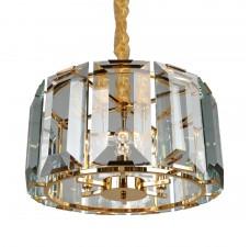 Подвесная люстра с хрусталем Omnilux OML-81503-06 Noventa золото E14 40 Вт