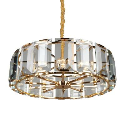 Подвесная люстра с хрусталем Omnilux OML-81503-10 Noventa золото E14 40 Вт