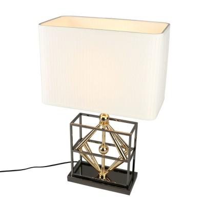 Настольная лампа Omnilux OML-83804-01 Brunello Черный+золото Е27 40 Вт