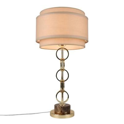 Настольная лампа Omnilux OML-84104-01 Dogliani золото Е27 40 Вт