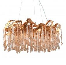 Подвесная люстра с хрусталем Omnilux OML-85013-10 Cerreto золото Е14 40 Вт