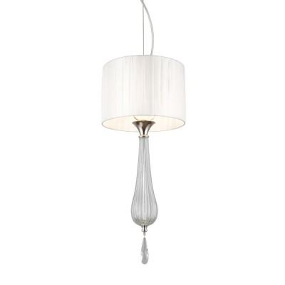 Подвесной светильник Omnilux OML-86806-01 Cipressi Хром Е14 40 Вт