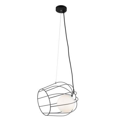 Подвесной светильник Omnilux OML-92206-01 Narni Черный E27 60 Вт