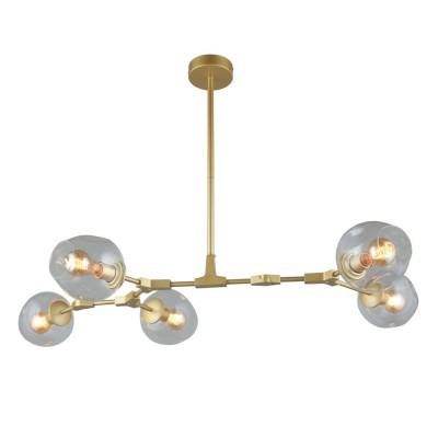 Подвесная люстра Omnilux OML-92903-05 Rozzano матовое золото E27 60 Вт