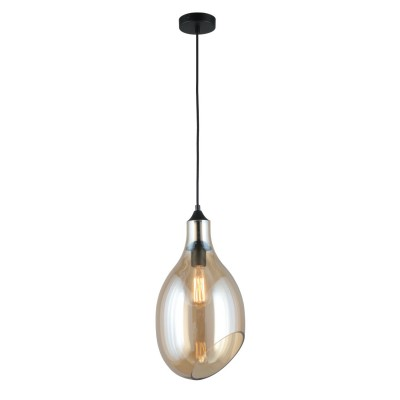 Подвесной светильник Omnilux OML-93016-01 Ravello Черный E27 60 Вт