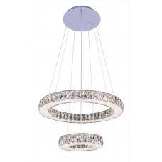 Подвесная светодиодная люстра с пультом Omnilux OML-46603-128 Sorso хром 128 Вт